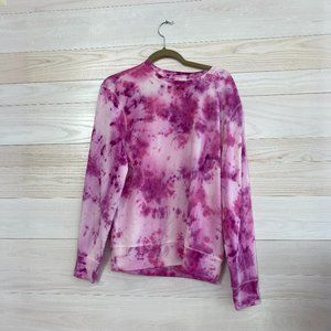 Pink and White Tye Dye Sweater- One of a Kind
